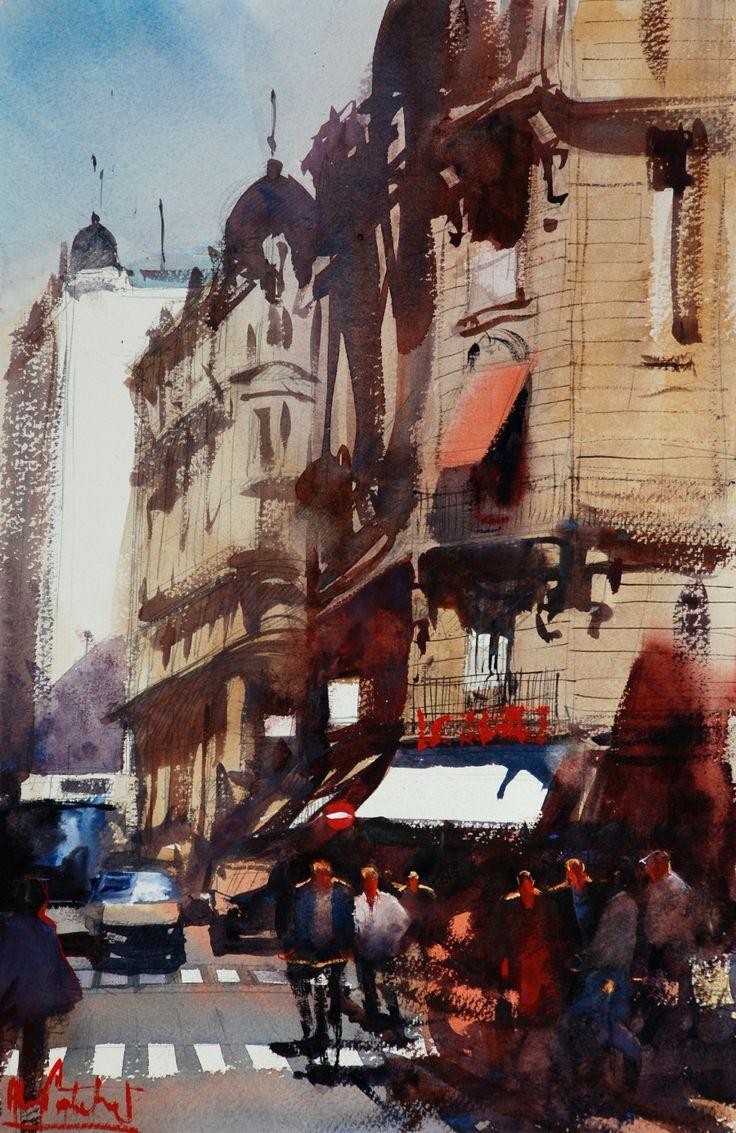 I love Alvaro Castagnet's watercolors. Such depth and bravado!