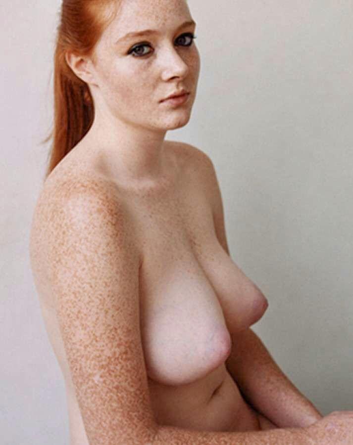 Blonde Hair Girl Freckles Nude