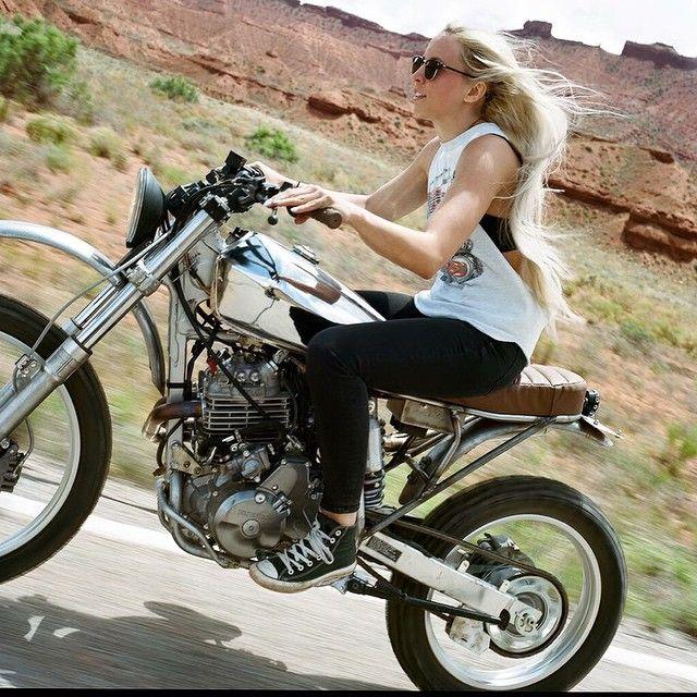 "lemoncustommotorcycles: "" Jessica Haggat via @fevvvvaa by silodrome http://ift.tt/1xevTUq """