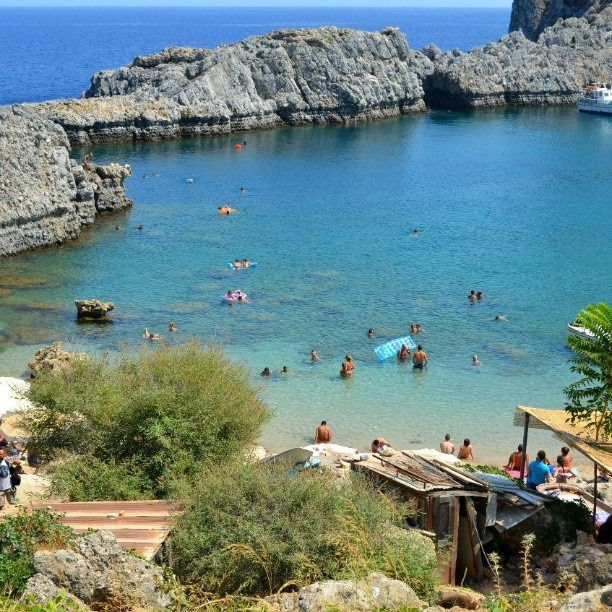 St. Pauls Bay, the second best place after #Kathara #Beach ;)  #Rhodes #Rodos #Greece