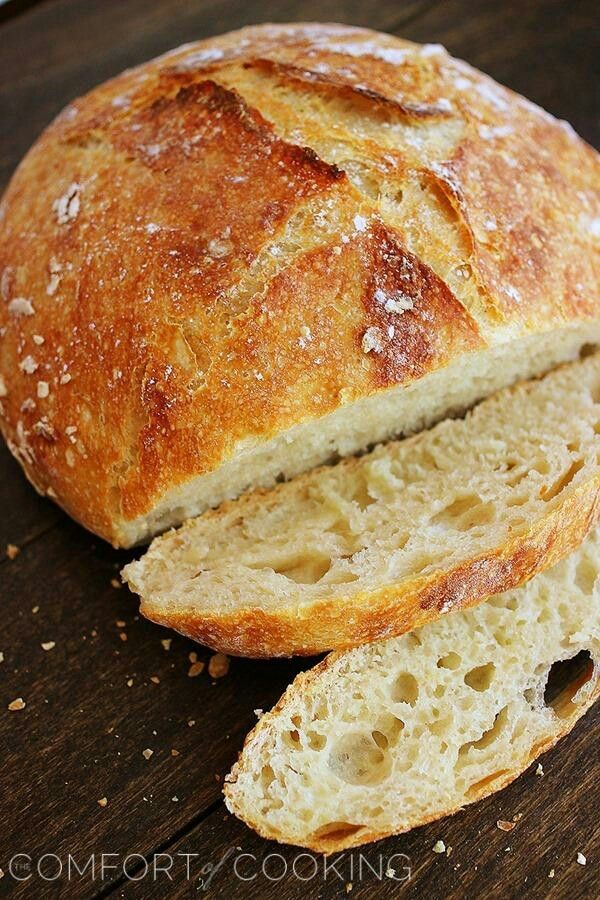 I love this no knead bread recipe. I am never buying bread again!   http://www.thecomfortofcooking.com/2013/04/no-knead-crusty-artisan-bread.html