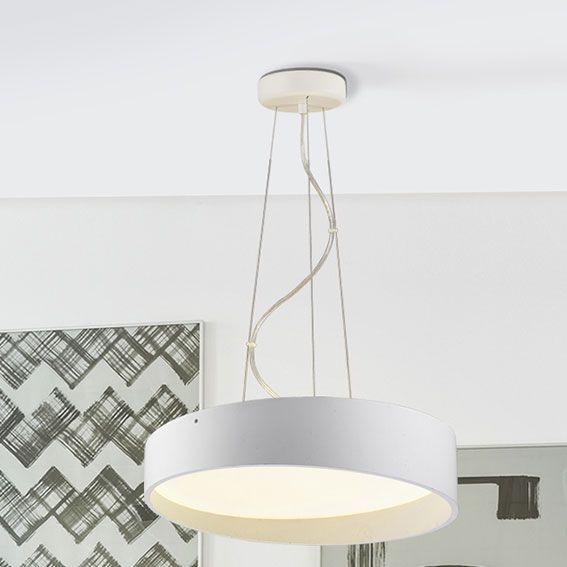 Lámparas de techo : Lámpara Colgante en metal Blanca de Led