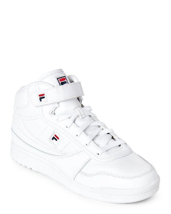 sale retailer f2632 5bbb3 FILA White BBN 86 High Top Sneakers