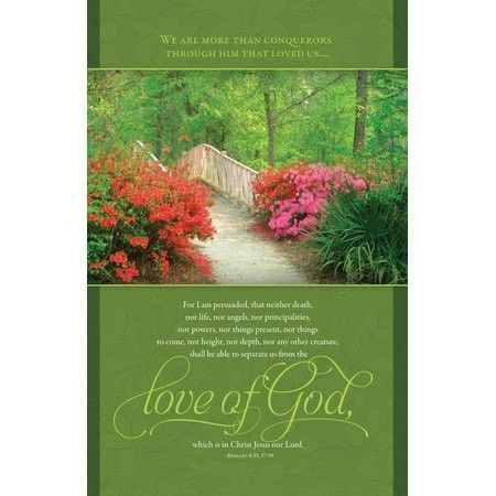 The Love Of God (Romans 8:37-39) Funeral Bulletins, 100