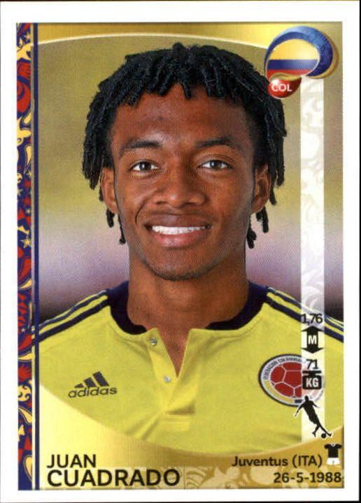 2016 Panini Copa America Centenario Stickers #52 Juan Cuadrado
