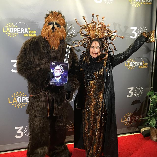 The force is strong with this one. And they say they liked Moby-Dick! #MobyDick #LAO30 #OpeningNight #dtla #starwars