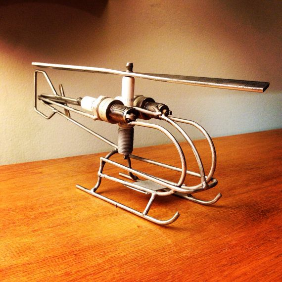Metal Art Helicopter by TheDaRkMetalArtStore on Etsy