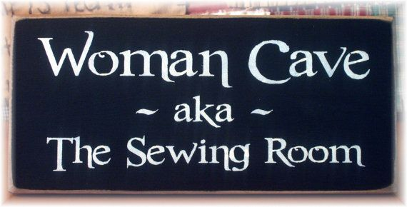 I am so lucky to have a sewing room.  I should put this on the door!
