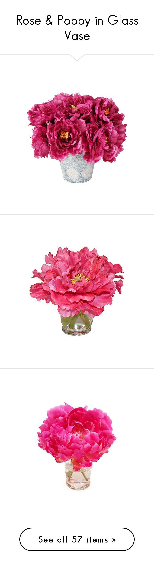 Best 25 artificial peonies ideas on pinterest event rose poppy in glass vase by pion2012 liked on polyvore featuring home artificial peoniesartificial reviewsmspy