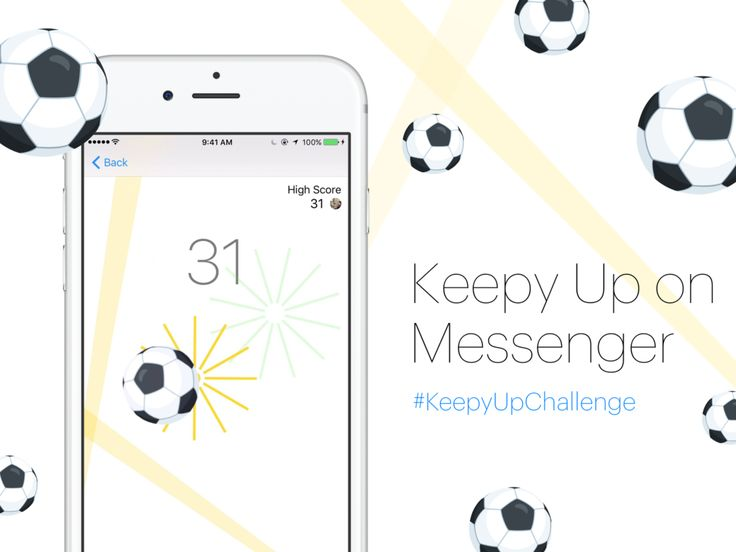 Use the Soccer emoji to play on your messenger app!!
