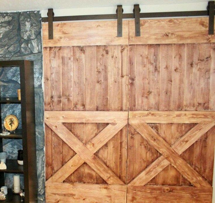 1000 ideas about double sliding barn doors on pinterest for 12 foot barn door track