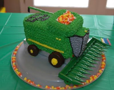 Combine cake- this will be Klay's cake this year!: Cakes Blake Parties, Tractors Cakes Ideas, Cakes Updates, Farms Tractors Cakes, Farmers Birthday Cakes, Awesome Cakes, Cakes Awesome, Combinations Cakes, Grooms Cakes
