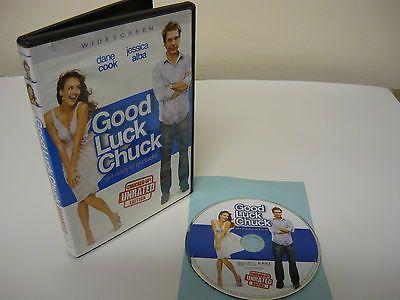Good Luck Chuck DVD (WIDESCREEN) Unrated Comedy Dane Cook Jessica Alba Dan Folger