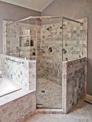 Shower Instead Of Bath, But Both Are Angled Between Walls. Shower  StallsShower EnclosureNeo Angle ...