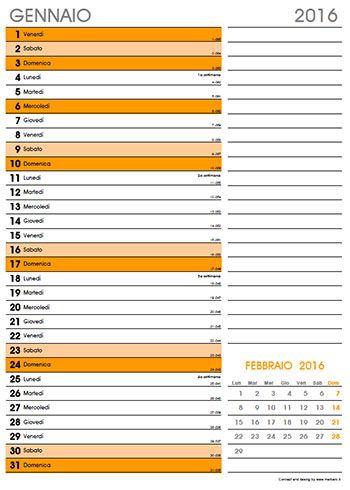 Calendari mensili 2016