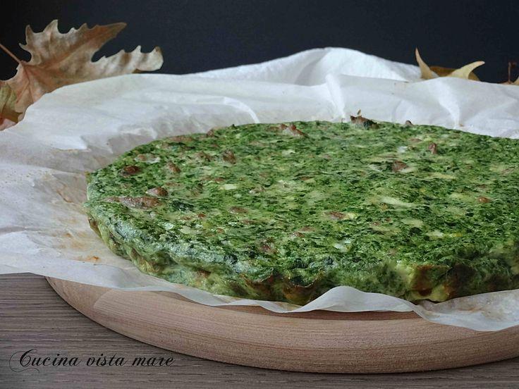 Frittata+con+salsiccia+e+spinaci