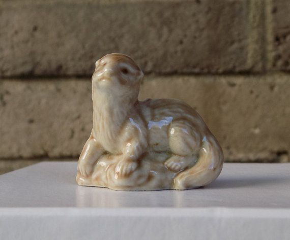 Wade Otter Figurine by CleaningOutMyStudio on Etsy