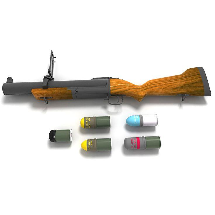 m79 grenade launcher ammo 3d c4d