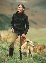 barbour, boots, and pup