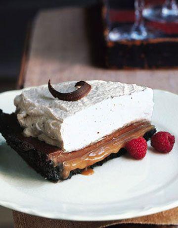 Chocolate Caramel Cream Pie...oh my.
