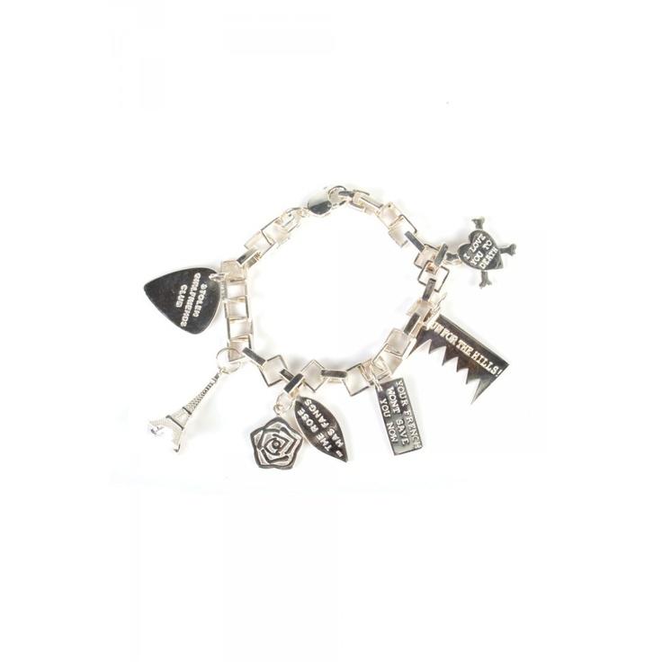 $519 stolen girlfriends club jewellery / death metal bracelet with charms #superettegetthelook