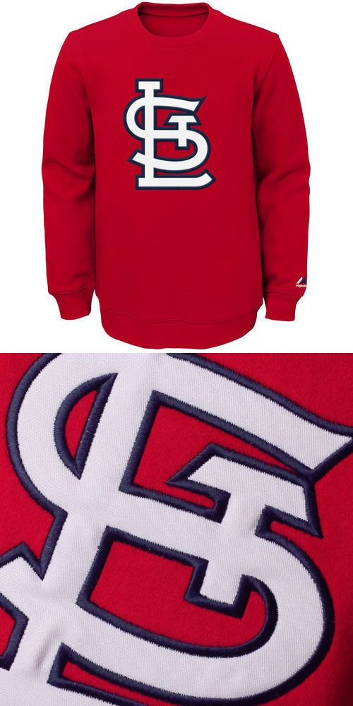 Baseball Shirts and Jerseys 181348: Nwt Majestic St. Louis Cardinals Youth Red Our Team Pullover Sweatshirt -> BUY IT NOW ONLY: $32 on eBay!
