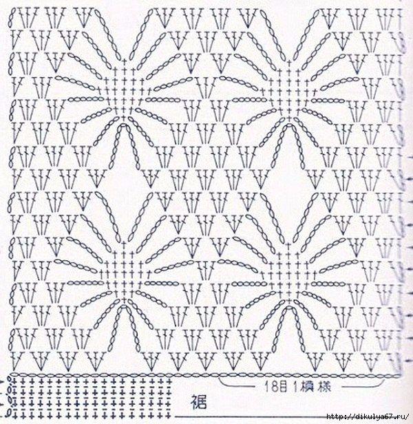 Openwork patterned crocheted pattern Spider