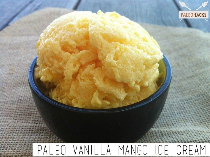 Paleo Vanilla Mango Ice Cream