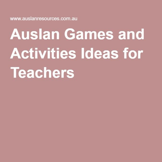 Auslan Games and Activities Ideas for Teachers