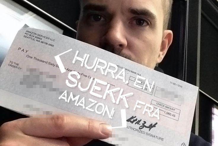 Starter det nye året friskt med min første sjekk på over $1000 fra Amazon sitt affiliate program. Ganske gøy.  http://www.minegensjef.no/min-forste-sjekk-pa-over-1000/  #amazon #affiliate #seo #jobbhjemmefra #finnjobb #jobb #arbeid #markedsføring #salg #suksess #sjekk #bank