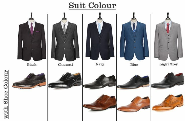 Suit shoes matching guide men 39 s clothing pinterest for What colors match with grey