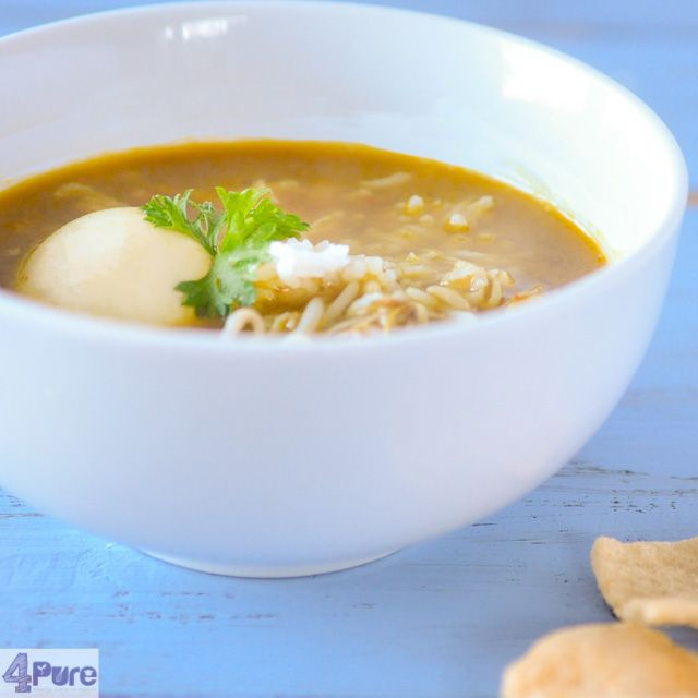 Oriental chickensoup - English recipe - a delicious soup with Oriental flavors