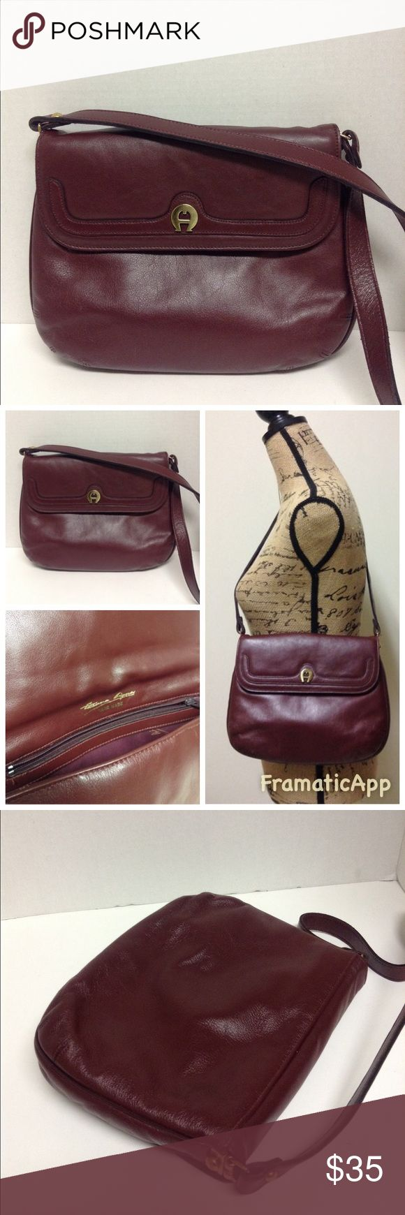 "Etienne Aigner Vintage Handmade Leather Handbag Etienne Aigner Vintage Handmade Oxblood Leather Handbag. Gently used great condition very small signs worn.Measures approx 10 1/2"" x 8 1/2""  strap 14"".Thanks for looking Etienne Aigner Bags Shoulder Bags"