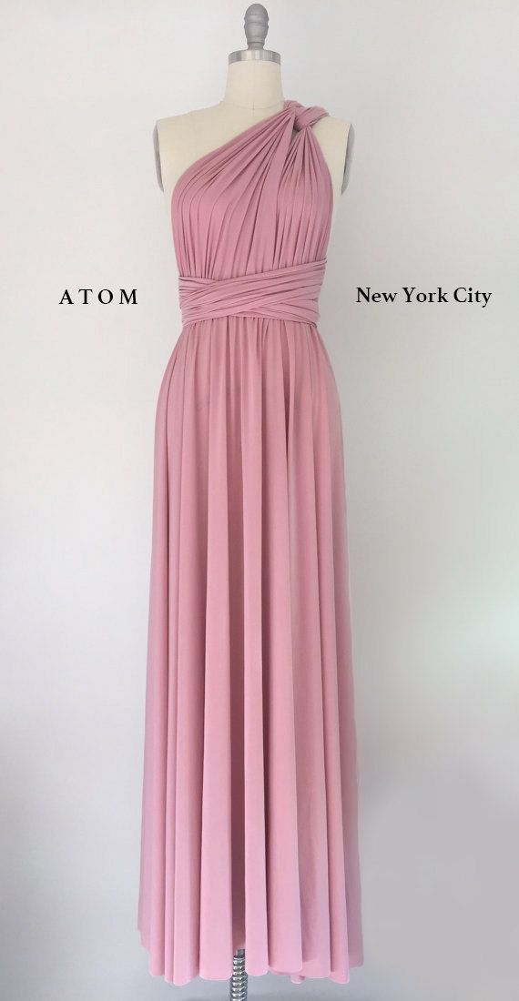 Rose Pink LONG Floor Length Ball Gown Infinity Dress by AtomAttire