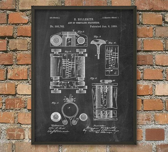 First Computer Patent Print - Computer Wall Art Poster - Computing History - Computer Design - Computer Room Decor - Information Technology