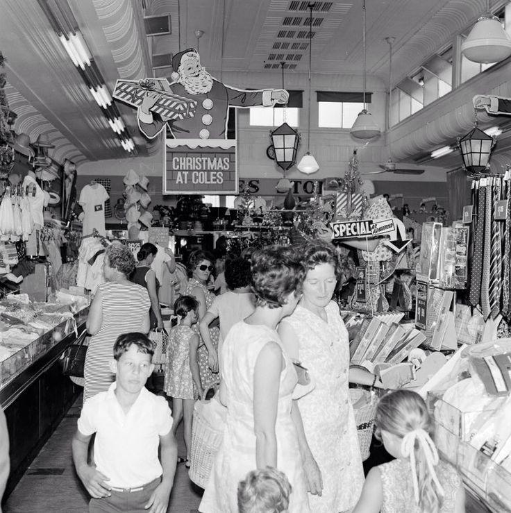 Christmas at Coles. 1970