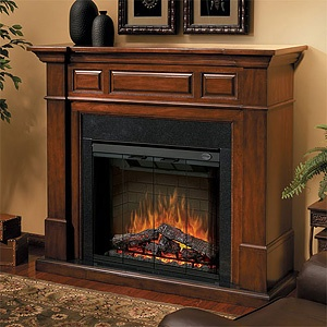 Electric Fireplace-  the only way to get my fireplace fix while living in a tropical climate :)