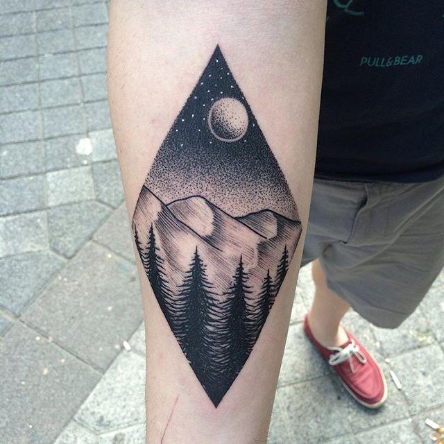 Landscape Tattoo by Savaş Doğan