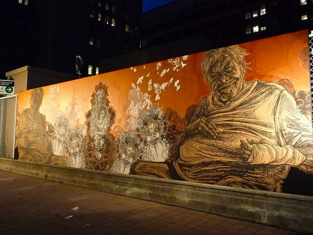 The Anthropocene by Swoon - Nuit Blanche Toronto, 2013. #swoon http://www.widewalls.ch/artist/swoon/