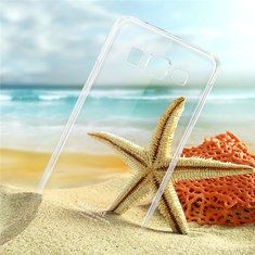 [US$4.69] IMAK Brand Clear PC Back Case For Samsung Galaxy E5 E500H  #back #brand #case #clear #e500h #galaxy #imak #samsung