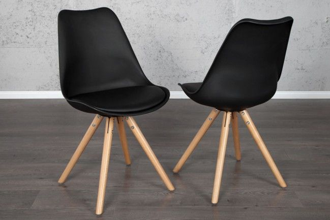 Retro designklassiker stuhl scania meisterst ck schwarz for Designklassiker stuhl