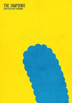 The SIMPSONS Minimalist poster tv serie show