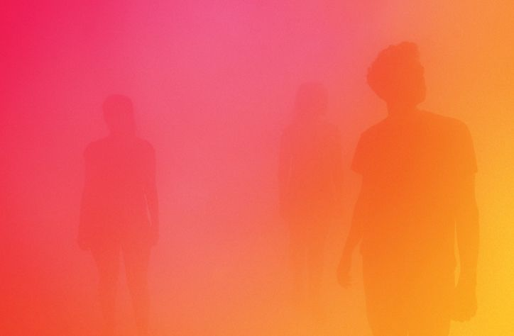 Ann Veronica Janssens' yellowbluepink sees an entire gallery at the Wellcome Collection enveloped in mist of those very colours.