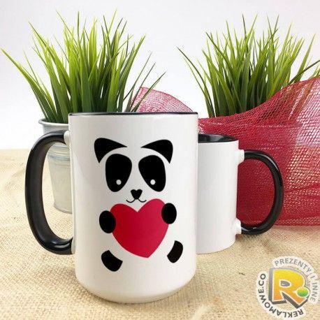 Kubek Panda XXL może na dzień chłopaka. Wysyłka 24godz. Jak się Wam podoba to zostawcie   #boy #chlopak ##serce #dzienchlopaka #kubek  #caffe #tea #love #milosc #prezent #niespodzianka #podarunek #pomysl #skleponline #xxl