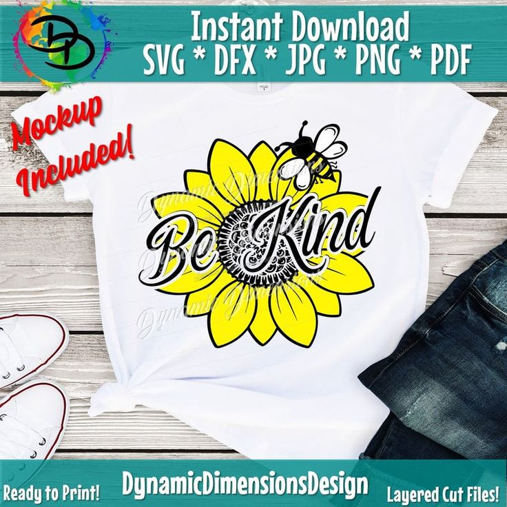Be Kind svg sunflower svg Peace Love SVG Bee svg Etsy in