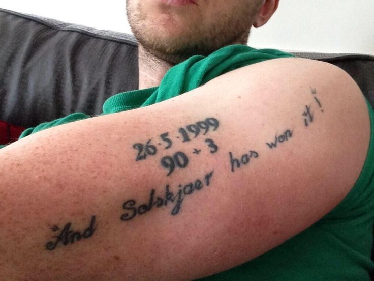 @butler7 (Twitter) has a great tattoo commemorating the 1999 Champions League final