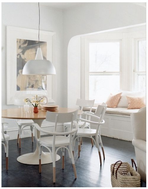 dipped chairs + window seat