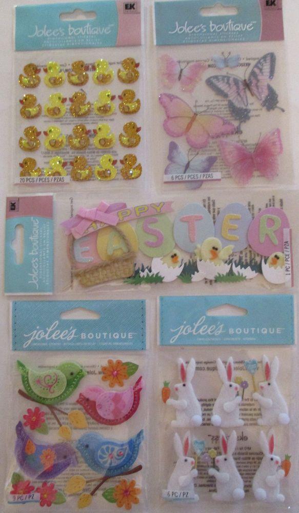 EASTER EK Success Scrapbooking Stickers Jolee's Boutique   #JoleesBoutiqueEKSuccess