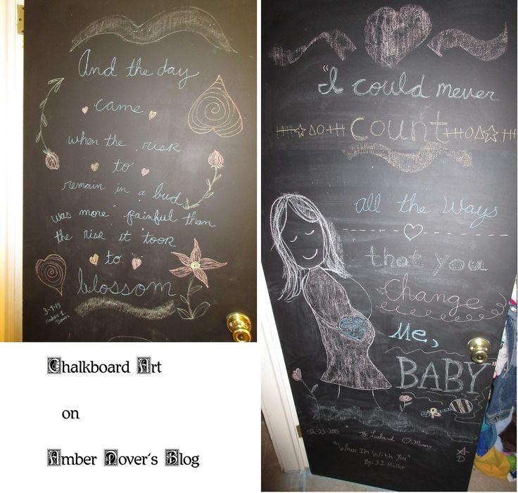 Maternity Chalkboard Art on Amber Dover's blog.