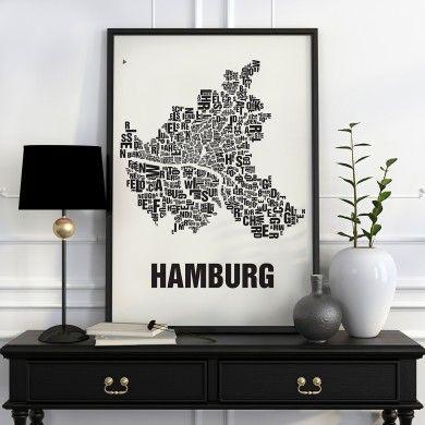 Die Hamburger Stadtteile und Kieze, von Hoheluft bis Övelgönne, vom Schanzenviertel bis zum Karoviertel, von Neuwerk bis Klostertor.Buchstabenorte zeigen die